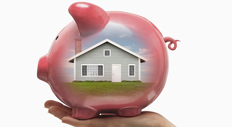 Home and House Investment Piggy Bank Savings